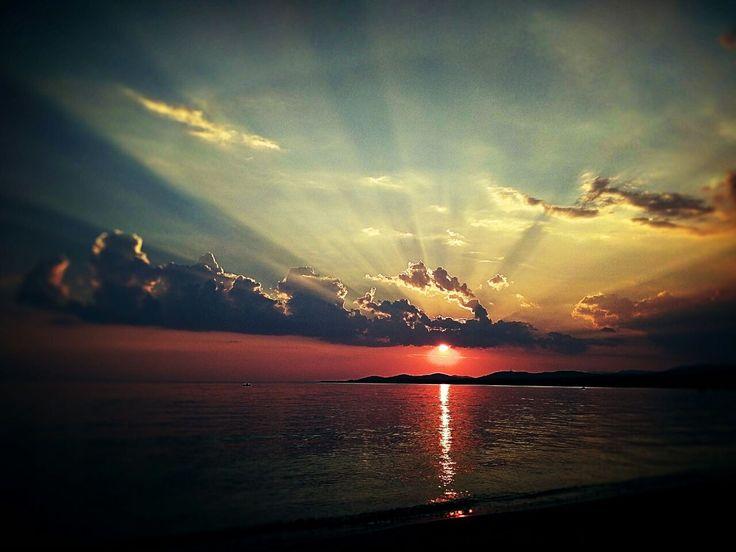 Sunset in Nikiti, Challidiki, Greece