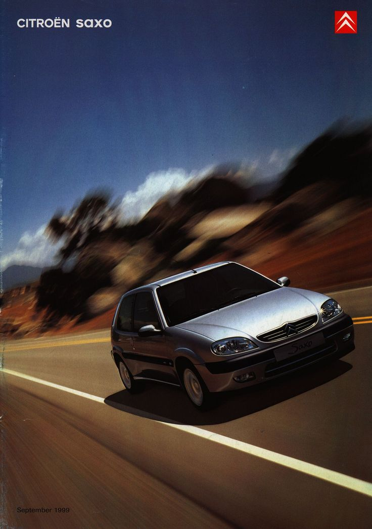 https://flic.kr/p/oghxvN | Citroen Saxo; 1999, 2000, 2002_1 | front cover car brochure by worldtravellib World Travel library