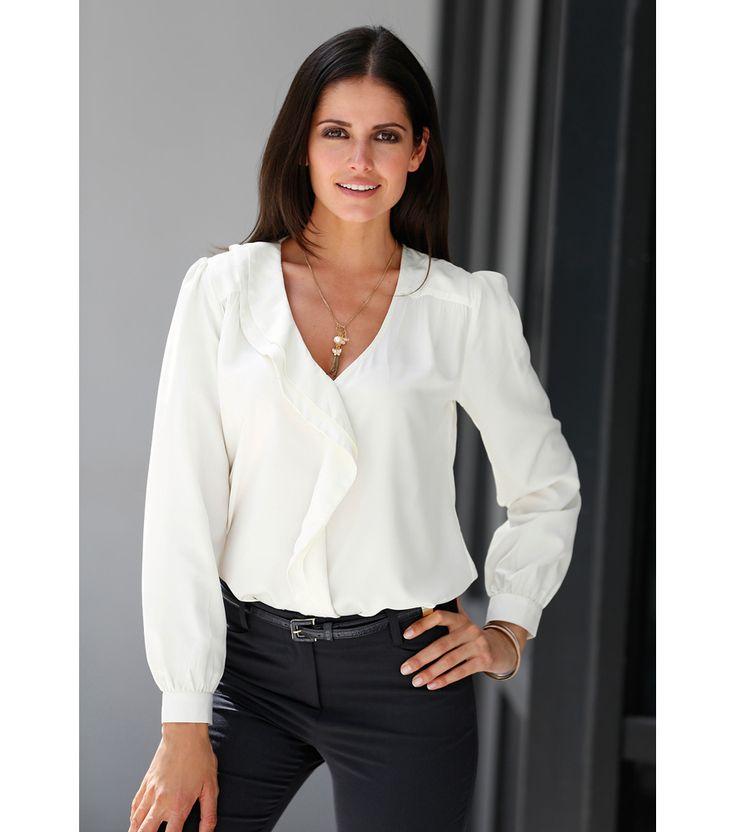 blusas elegantes en chifon manga larga buscar con google