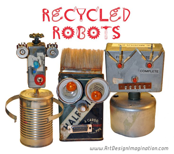 how to build a robot from recycled materials