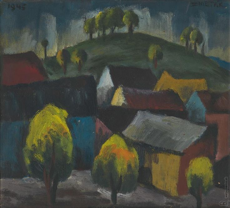 Ernest Zmeták: Motív zo starej Bratislavy:1945
