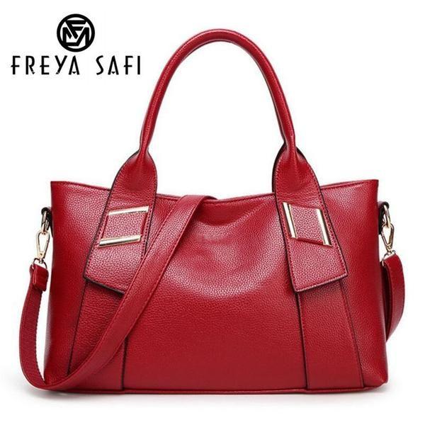 FREYA SAFI Designer Leather Tote Handbags