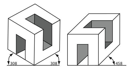 perspective isométrique et cavalière