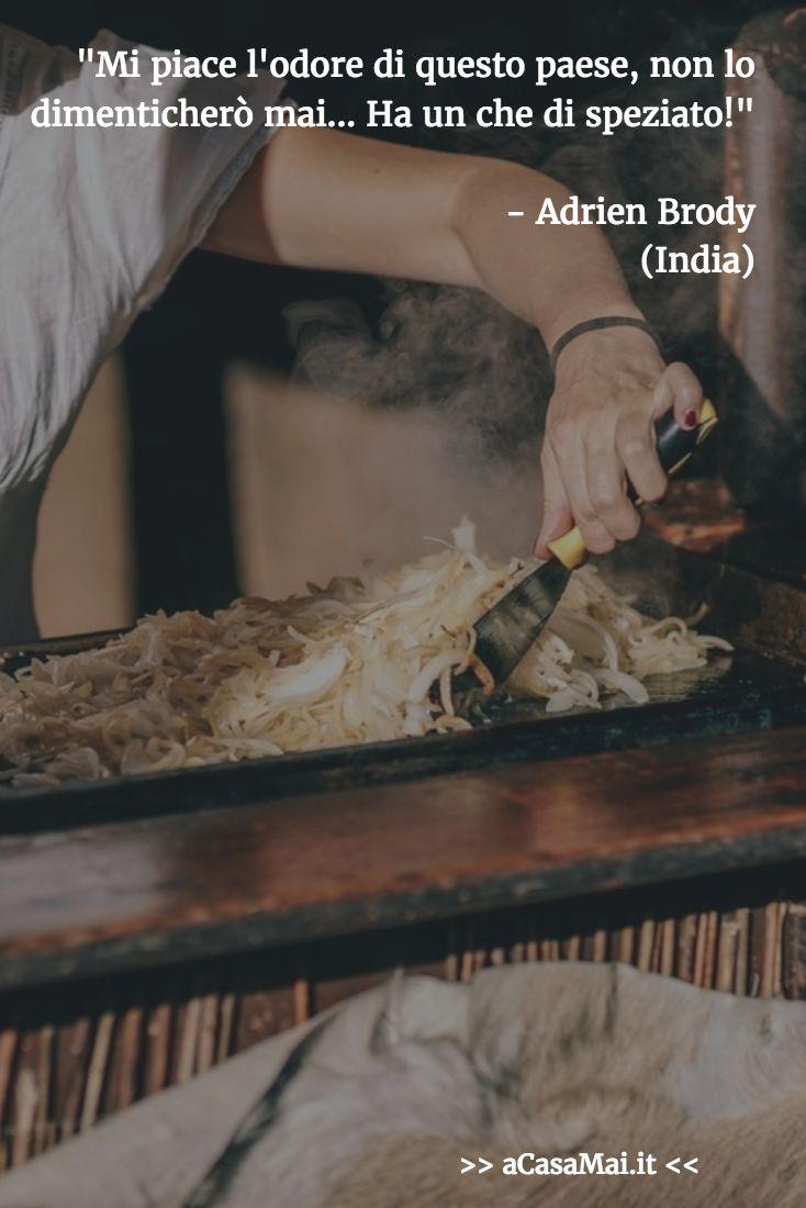 Mi piace l'odore di questo paese, non lo dimenticherò mai... Ha un che di speziato! L'#India raccontata da Adrien Brody.