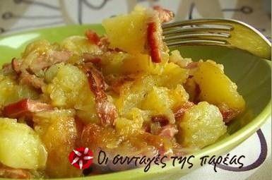 Πατάτες τραγανές με μυρωδικά και κρεμμύδι