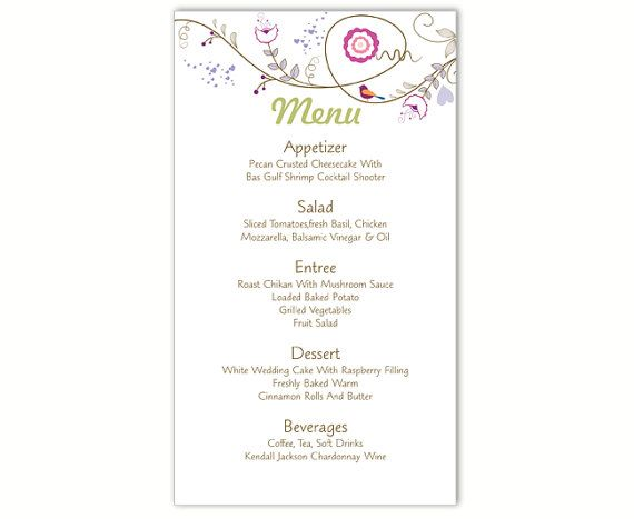 Parasta Ideaa iss Menu Card Template  Menu