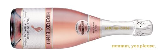 Barefoot Pink Moscato Champagne. Great for holiday parties! Add cranberries or cherries.