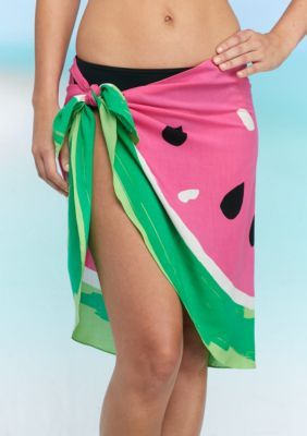 Collection Xiix Women's Feminine Watermelon Sarong - Pink - One Size
