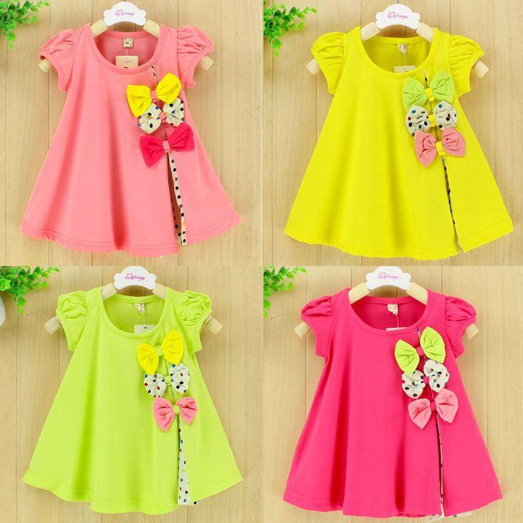 Estupenda de la promoción 100% vestido del bebé del algodón ropa Carters puntos vestido del bebé del verano envío gratis 04(China (Mainland))