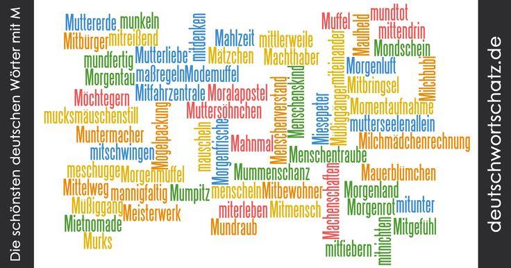 Schöne deutsche Wörter mit M - Deutsch Wortschatz - schönste Wörter - Deutsch lernen - liebe Deutsch