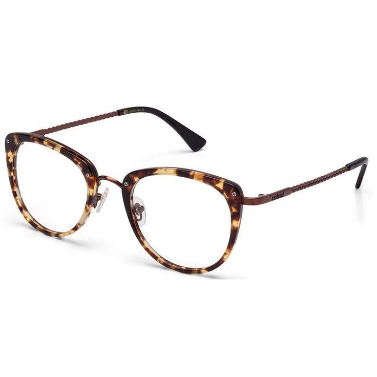 Armação de Grau Colcci C6035 Amarelo Demi e Preto Brilho Feminino - Colcci Eyewear
