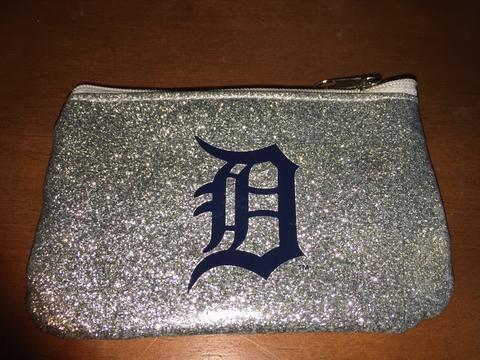 MLB Detroit Tigers Sparkle Coin Purse
