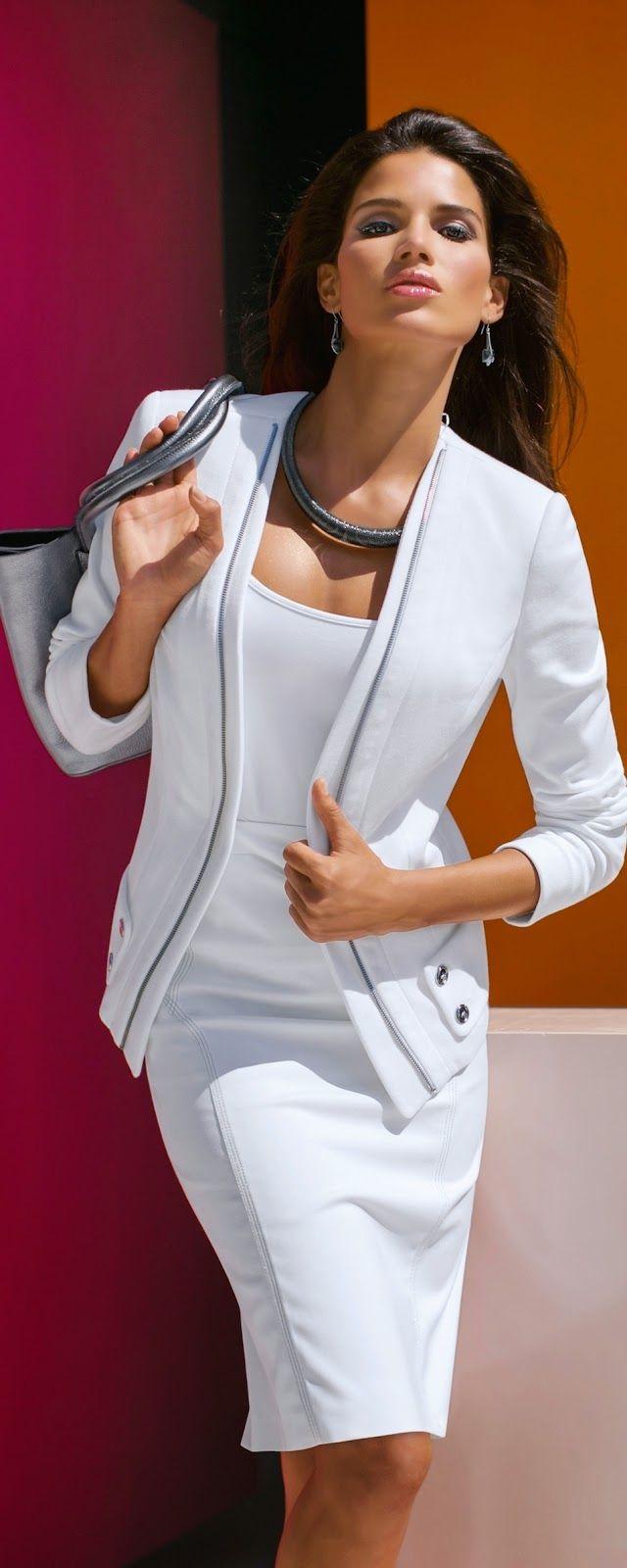 MADELEINE White Skirt and Blazer