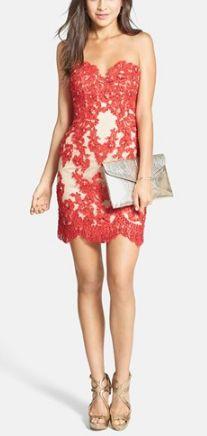 Embellished lace & tulle sheath dress