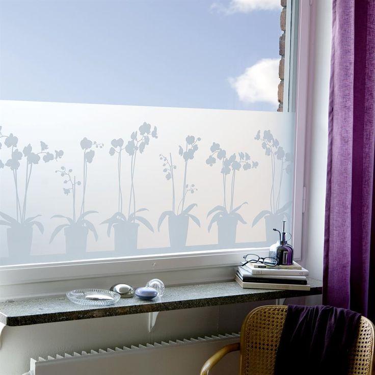 Vinilo ventana Orquídea   Siluett Frost   Tienda online