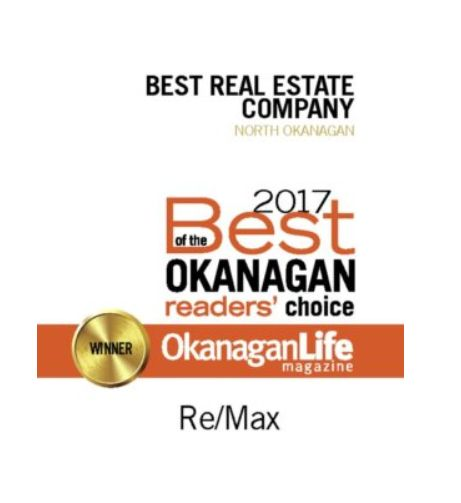 """We are honored to have been voted """"Best Real Estate Company in the North Okanagan"""" by the readers of Okanagan Life Magazine! Thank you to all who voted! #realestate #northokanagan #BestOfTheOkanagan#Remax #Realtors"""