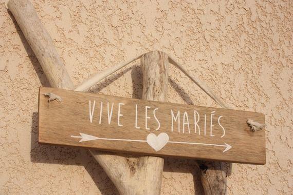 """Panneau mariage """"Vive les mariés"""" 100% récup"""