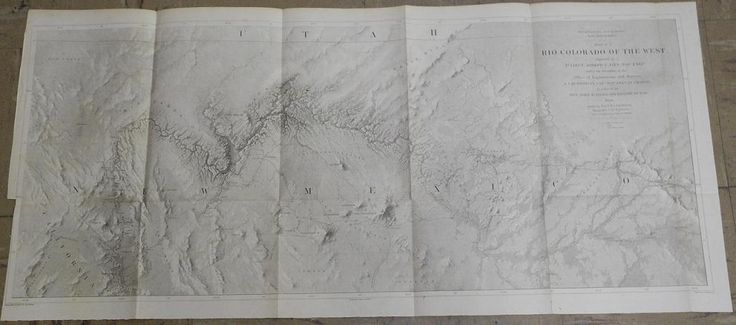 Explorations and Surveys. War Department. Map No. 1 Rio Colorado of the West, - Map No.2. Rio Colorado of the West,, First Large Scale Map of Grand Canyon, N. Az, & S. Utah, War Department, Egloffstein, Friedrich Wilhelm, freiherr von (Published:  1858. Washington, DC)