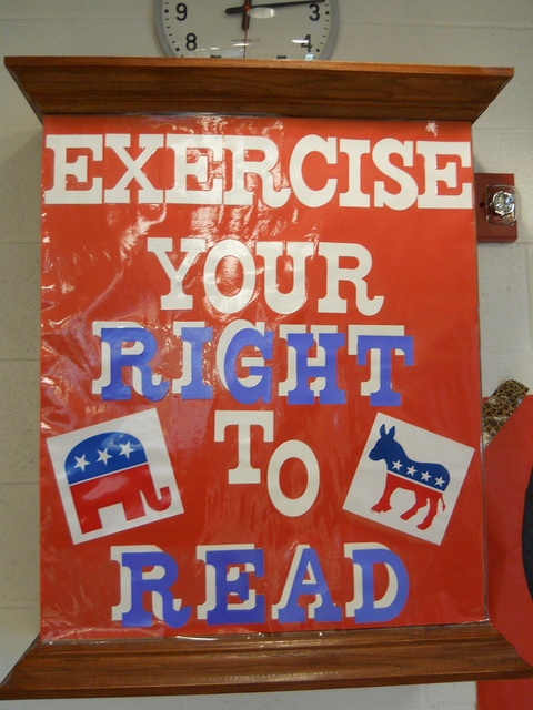 Library Case Display - November election month (2012)