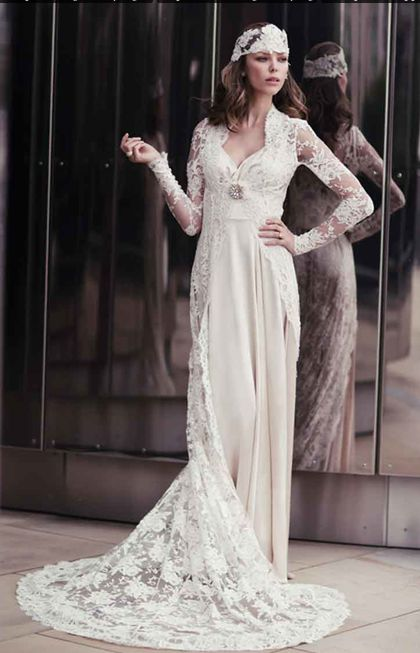 15 best Wedding dresses - \'20s images on Pinterest | Wedding frocks ...