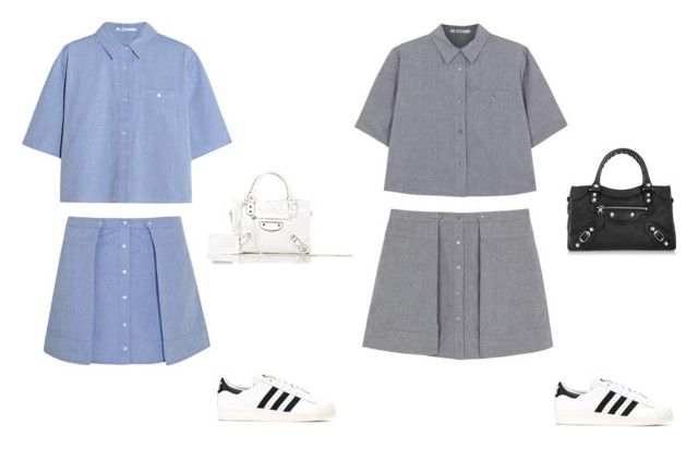 """""""Matching"""" by rachxoxop ❤ liked on Polyvore featuring T By Alexander Wang, Balenciaga and adidas"""