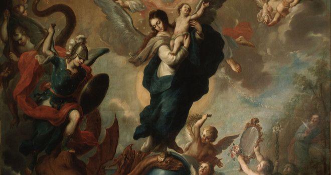 Resultado de imagem para Mary crushes the serpent's head