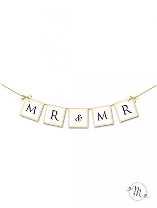 Ghirlanda Mr & Mr.  Ghirlanda in cartoncino rigido per allestire la vostra sala. Misura approssimativa: 0,80 cm. #unioniarcobaleno #nozzelgbt #lgbt #samesexwedding #lovewins #loveislove #gaywedding #lesbianwedding #gaylove #same-sexwedding #samesexweddings #tshirt #addioalnubilato #addioalcelibato #wedding #matrimonio #sposa #sposo #ghirlanda #mrandmr  #mrsandmrs