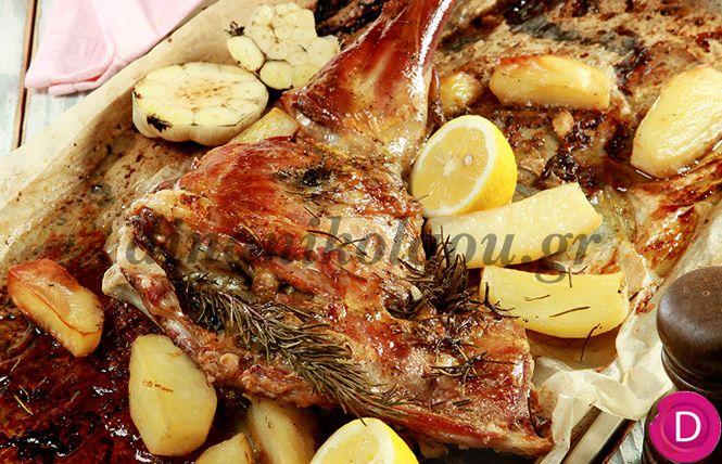 Αρνίσιο μπουτάκι πασχαλινό, στη λαδόκολλα | Dina Nikolaou