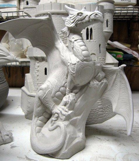 Warrior Dragon, Doc Holliday Dragon, Fantasy Dragon, Armored Dragon, Renaissance Dragon, Ceramic bisque,u-paint,Ready to paint, by TSoriginals on Etsy https://www.etsy.com/listing/81944714/warrior-dragon-doc-holliday-dragon