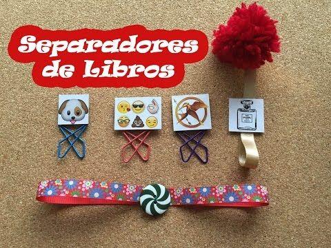 SEPARADORES PARA LIBROS DIY - YouTube