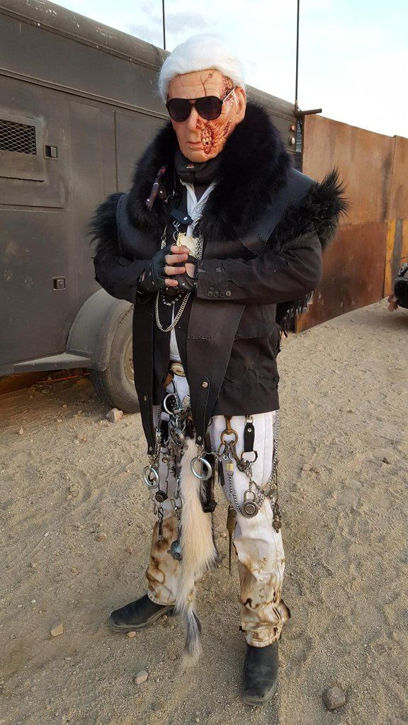 What would Karl Lagerfeld look like in the world of Mad Max? This costume has your answer.