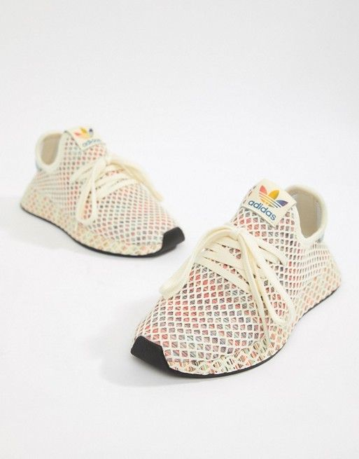 buy popular 5ef42 3fce2 adidas Originals Pride Deerupt Sneakers In Rainbow Mesh in 2018  Love This  Stuff!  Pinterest