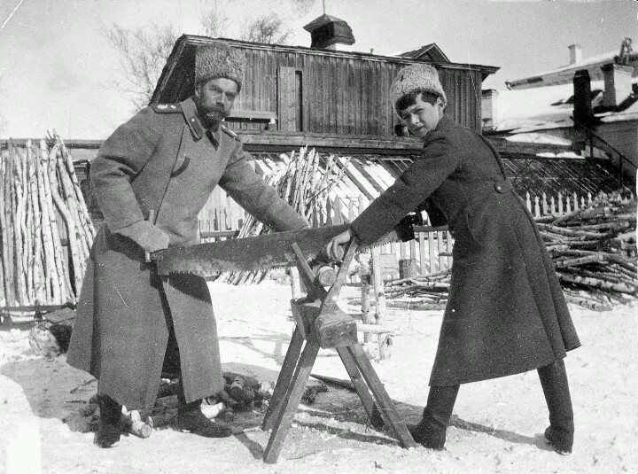 At TobolskTsar Nicholas Ii, Nicholasii, Imperial Families, Cut Wood, Chops Wood, Tsarevich Alexei, 1917, Alexei Nikolaevich, Tsarevitch Alexei