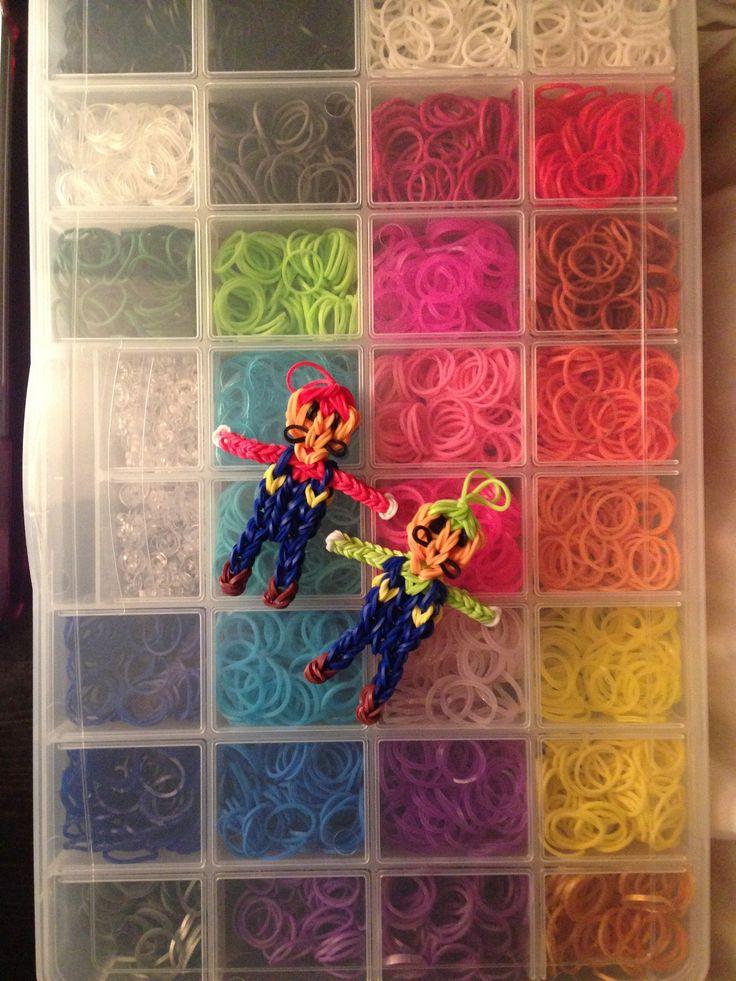 Rainbow Loom organizer with Mario and Luigi.
