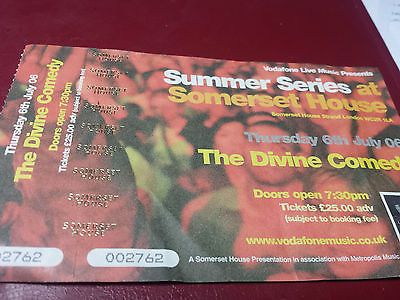 The divine comedy ticket, #somerset #house, #london, july 2006,  View more on the LINK: http://www.zeppy.io/product/gb/2/311710000383/
