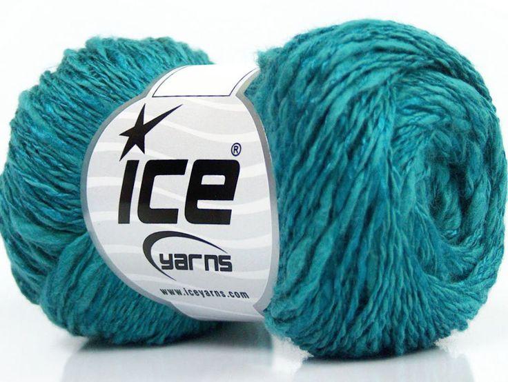 Limited Edition Spring-Summer Yarns Viskon Yazlık  Pamuk Flamme Natural Yarn Fine Weight Turkuaz  İçerik 60% Pamuk 40% Viskon Turquoise Brand ICE fnt2-41426