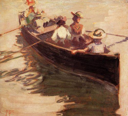 Boating  by Egon Schiele