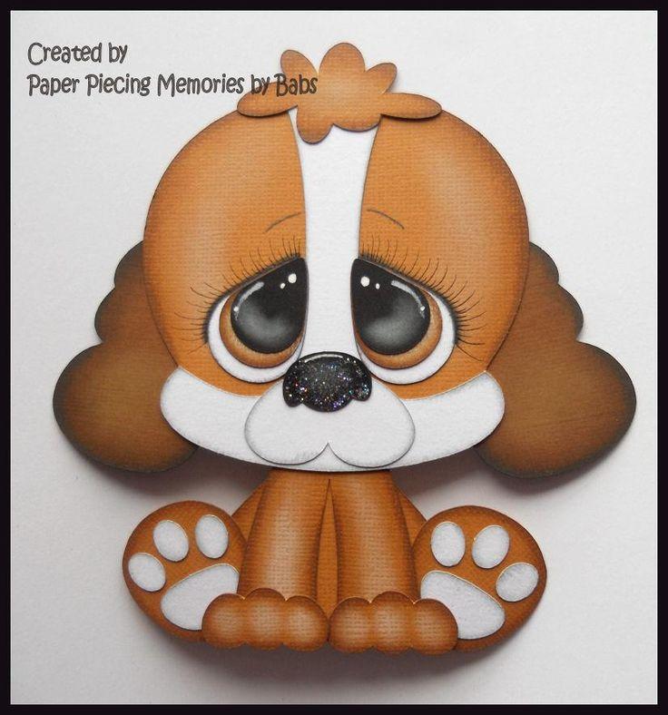 Puppy Premade Paper Piecing Die Cut for Scrapbook Page byBabs