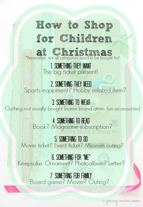 Easy way to keep things simple when shopping for children this Christmas!