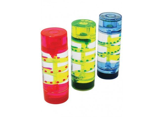 Flüssigkeits-Sanduhren, Zylinder, 3-er von .unbekannt. bei Spielundlern online bestellen