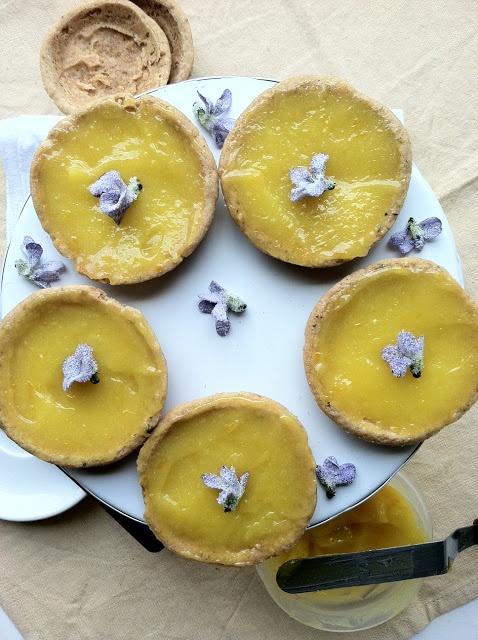 Meyer Lemon and Lavender Tartlettes
