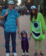 Monsters Inc Family Homemade Costume