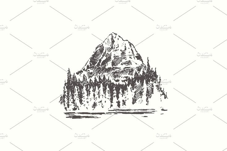 Sketches of mountain landscapes #mountain#Sketches#