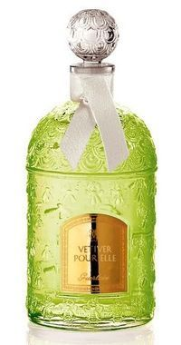 Vetiver Pour Elle Guerlain perfume. Top notes are orange blossom and bergamot; middle notes are honeysuckle, nutmeg and lily-of-the-valley; base notes are tonka bean and vetiver.