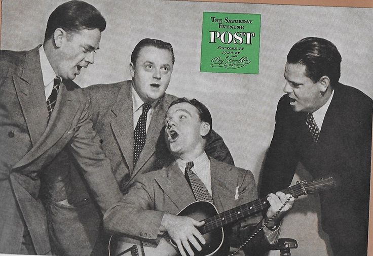 James Cagney with his brothers, Ed, Bill, Jim, and Harry.