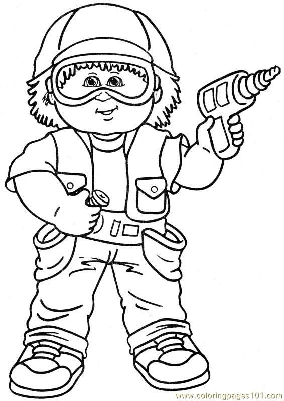 Cabbage Patch1 1 Coloring Page Coloring Pages Kids Coloring