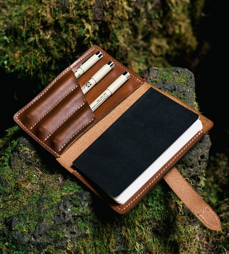 "Journeyman Leather Notebook Kit | The word ""journeyman"" comes from the French journée, which mea... 