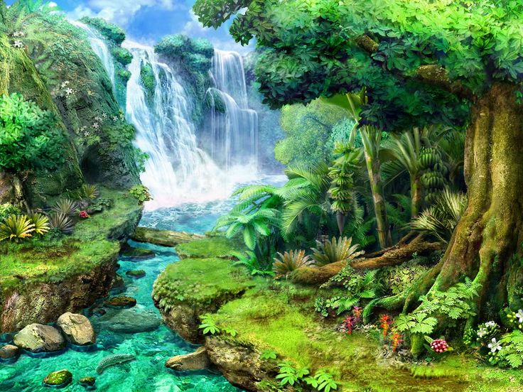 Candy Falls Live Wallpaper Tropical Waterfalls Claire Hart Tropical Thief