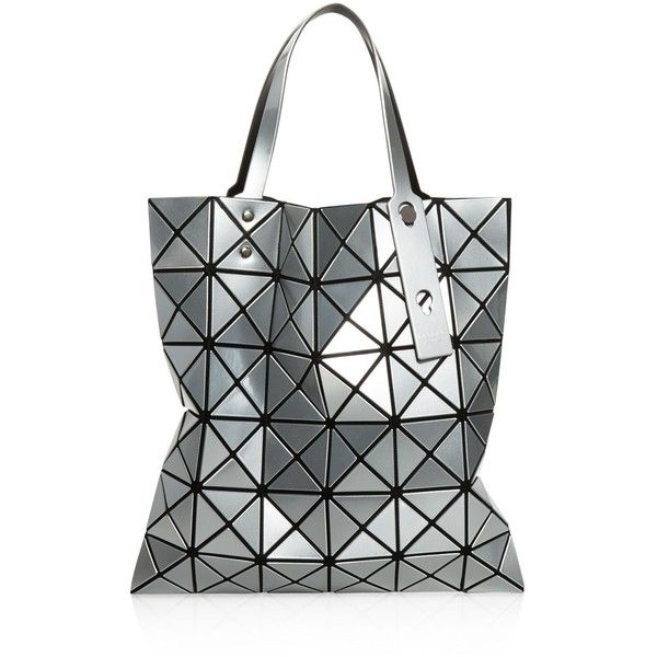 Bao Bao Issey Miyake Lucent Tote (2,930 CNY) ❤ liked on Polyvore featuring bags, handbags, tote bags, silver, silver handbags, handbags tote bags, tote hand bags, handbags totes and silver tote bag