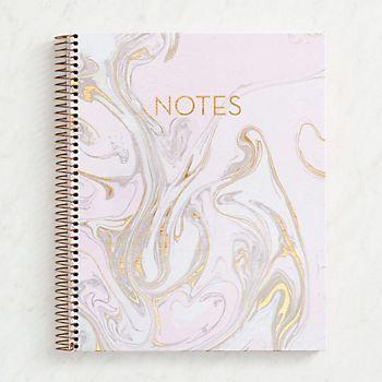Blush Marble Spiral Notebook